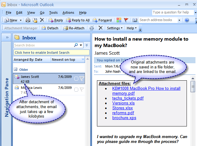 Click to view Attachment Manager for Outlook screenshots