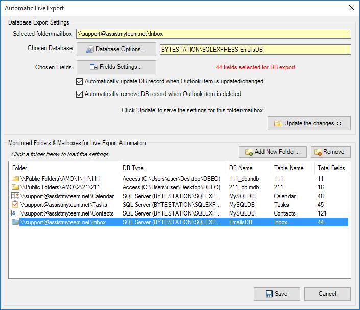 Database Exporter for Outlook - AssistMyTeam