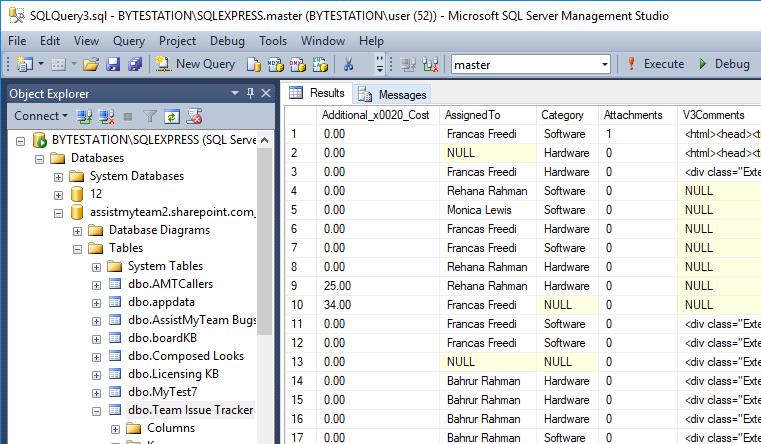Database Exporter for SharePoint - AssistMyTeam