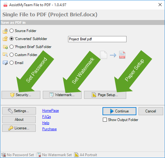 Create PDF from any file in Windows Explorer