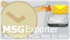 Outlook plug-in that archives emails to MSG files in file system