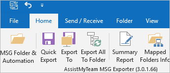 MSG Exporter add-in in Outlook - Archive Emails to File System