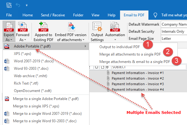 how to save email to pdf using 'Save As PDF' add-in for Microsoft Outlook